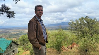 Bill overlooking the Rift Valley
