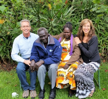 Bill & Patricia with Idris & Mary from S. Sudan (ROM)